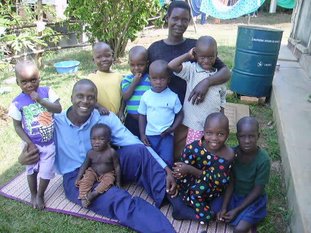 EWCV Social Worker, EWCV's First Five Children, EWCV Cook and her Five Children
