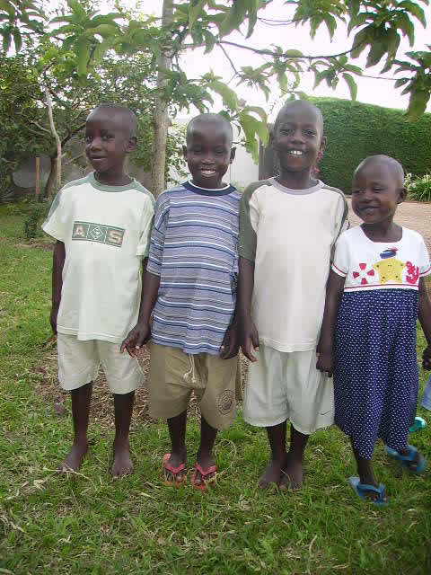 Four of the Newly Arrived Children