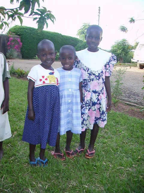 Three Girls Newly Arrived at EWCV