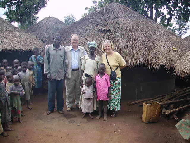 Bill and Ann at an IDP Camp with Relatives of a Staff Member