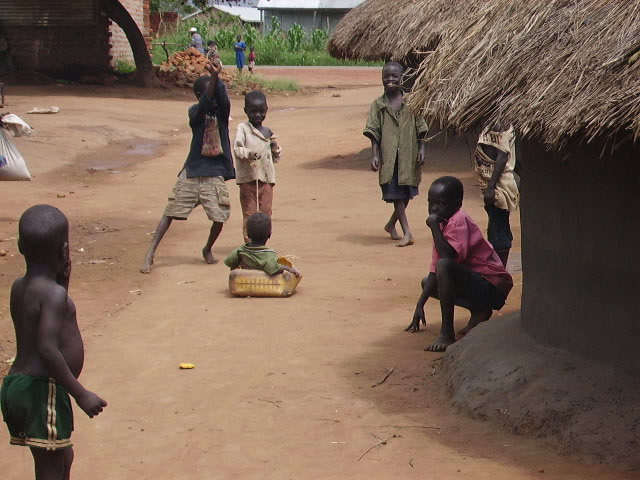 Six Children at an IDP Camp Playing Together