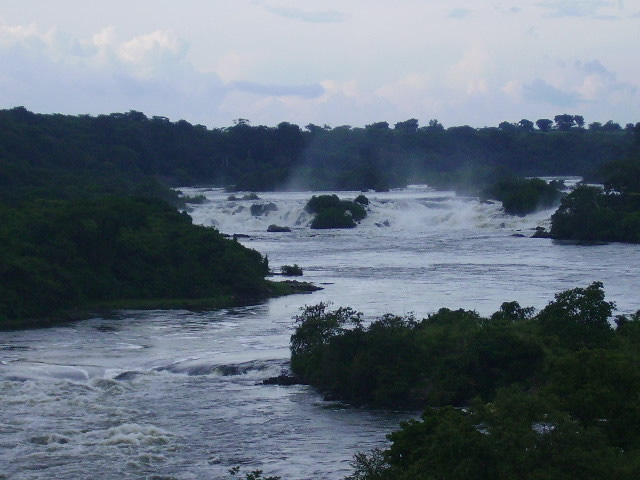 at Karuma Falls on the Victoria Nile River in Northern Uganda