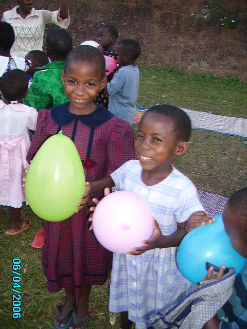 Two Happy EWCV Girls with Birthday Balloons