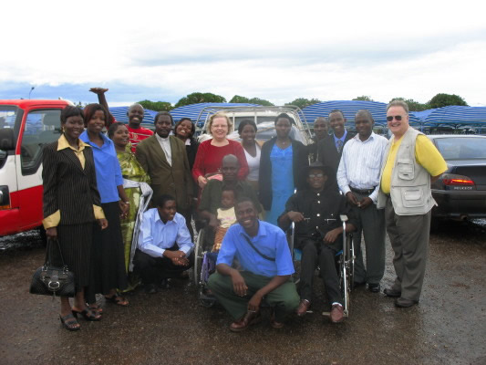 Sixteen Ugandans at Airport to Welcome Bill and Ann Home