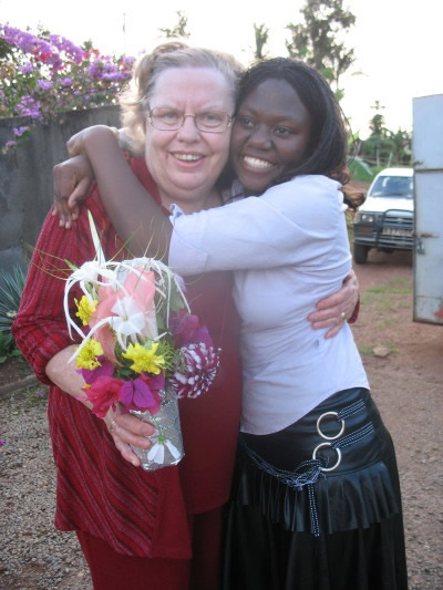 Mary Muwonge Hugging Ann