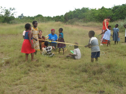EWCV Children Playing with New Ropes and Hula Hoops