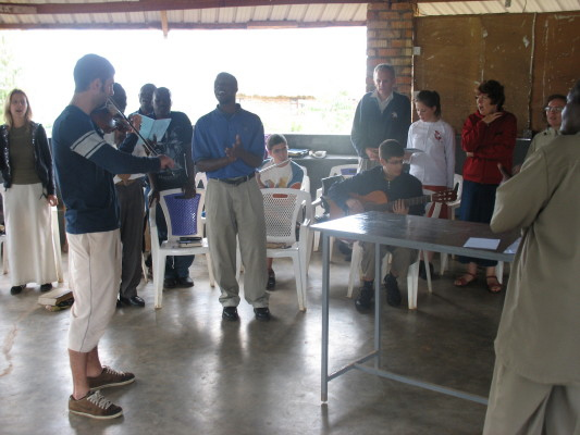 EWCV Staff and Volunteers Singing during Day of Fasting and Prayer