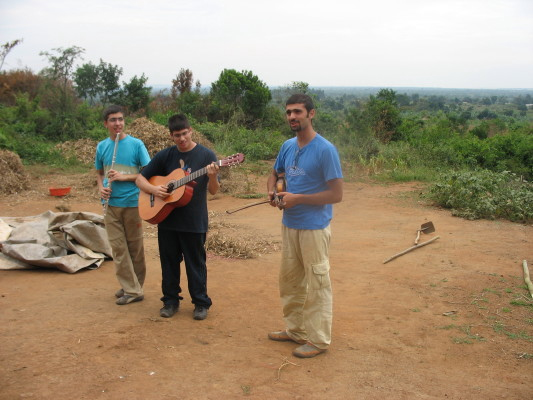 Three Volunteers Explaining their Flute, Guitar, and Violin