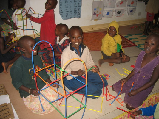 Seven EWCV Children Playing with Play Straws from Canada