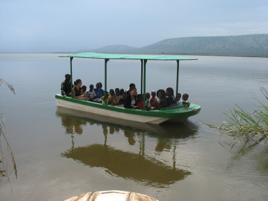 EWCV Children and Staff on a Boat Trip to See Hippos