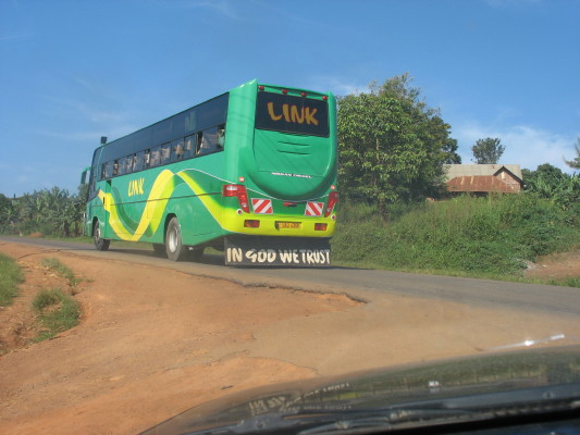 Bus Taking EWCV Children to Lake Mburo National Park