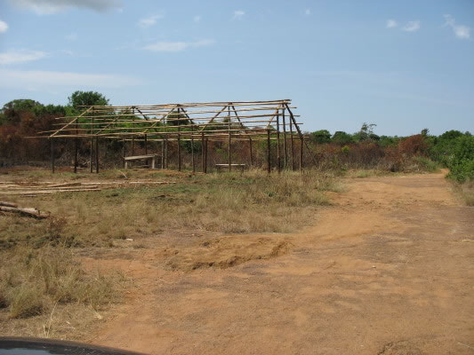 Construction of Temporary School Building Beginning