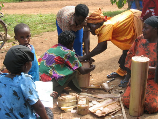 Four Women Building Energy Efficient Stove for Villagers