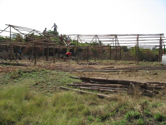 Temporary School Building under Construction