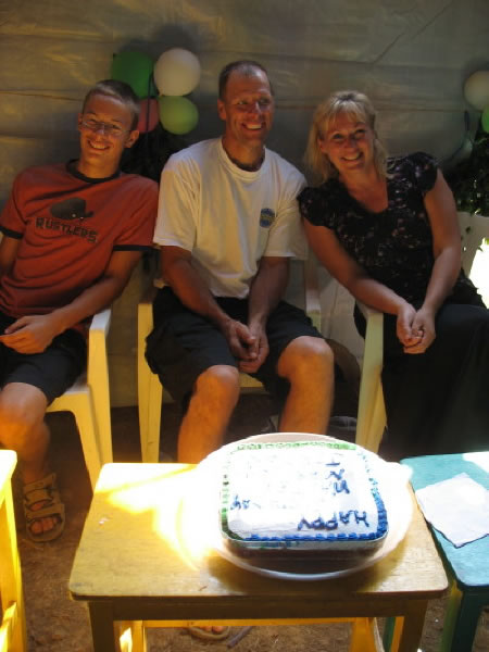 Three Visitors from Manitoba Celebrate January Birthdays with an EWCV Cake