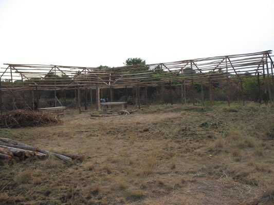 Temporary Four-Room Primary School Framed Up