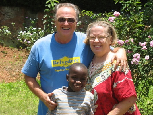 Bill and Ann with Young Boy Who Needed Special Medical Care