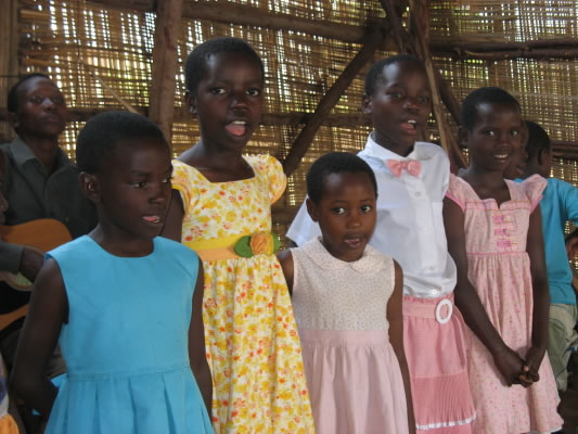 Five EWCV Girls Singing in Church Choir