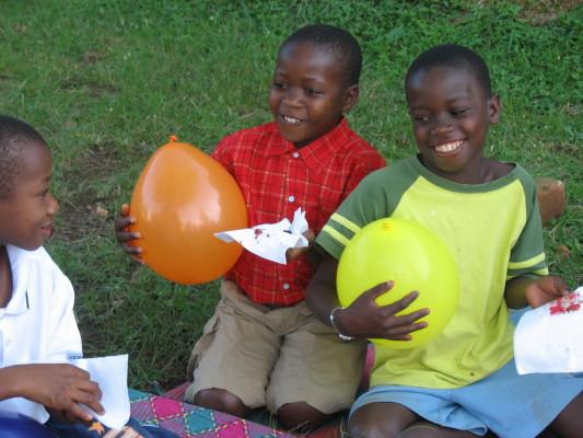 Three EWCV Children at a Birthday Party