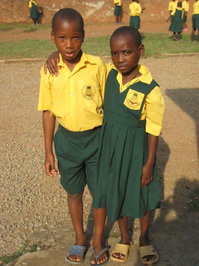 A Boy and a Girl in the EWCV School Uniforms