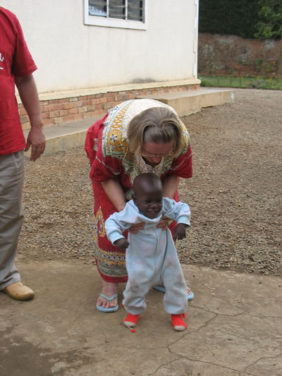 Ja Ja Ann Helping Ibrahim Learn To Walk