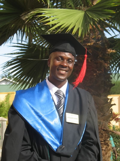 Allan in his Graduation Robes