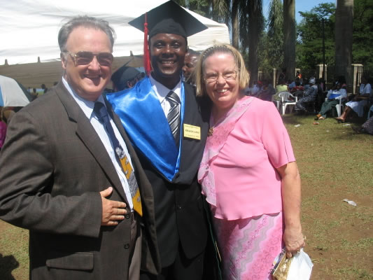 Bill and Ann Peckham with Allan on his Graduation Day