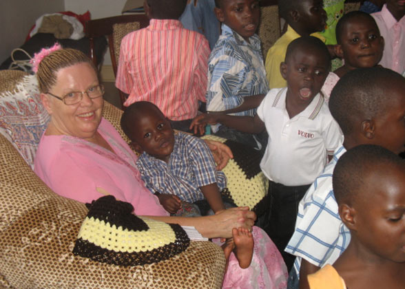Ja Ja Ann with EWCV Boy on her Lap
