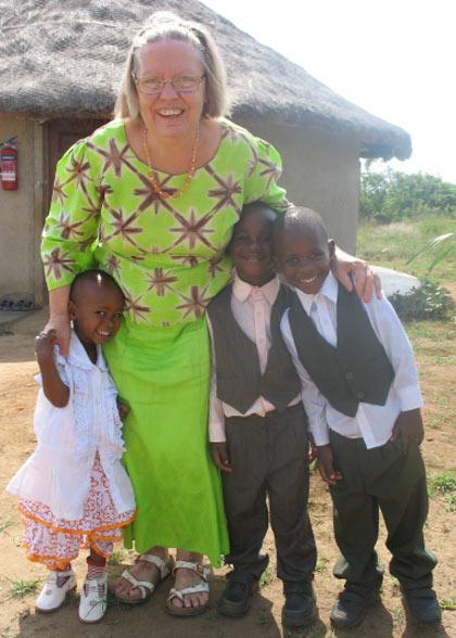 Ja Ja Ann with Three Children