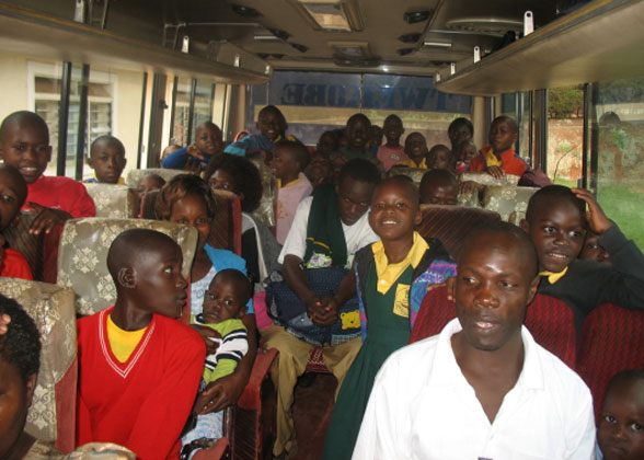 EWCV Children Riding on a Bus to a National Park