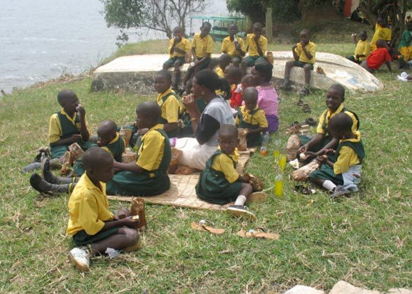 EWCV Children Having a Picnic by the Lake