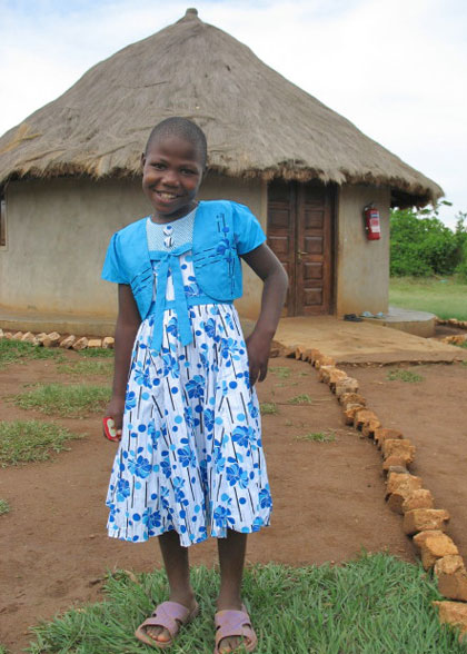 EWCV Girl in New Dress Received as a Birthday Gift