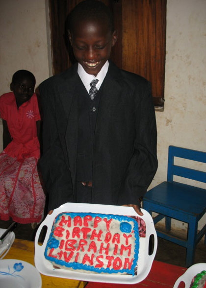 EWCV Boy Holding the Birthday Cake for Children Born in September