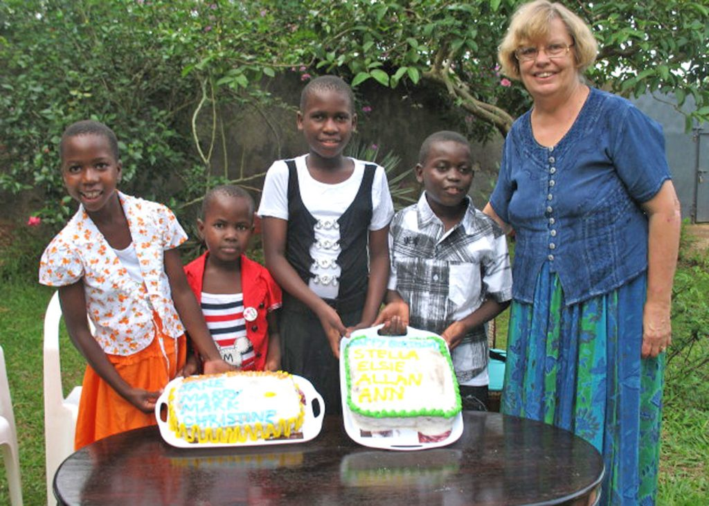 December Birthday Girls with Decorated Cakes