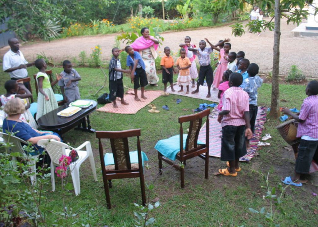 Outdoor Celebration of Children and Staff Born in December
