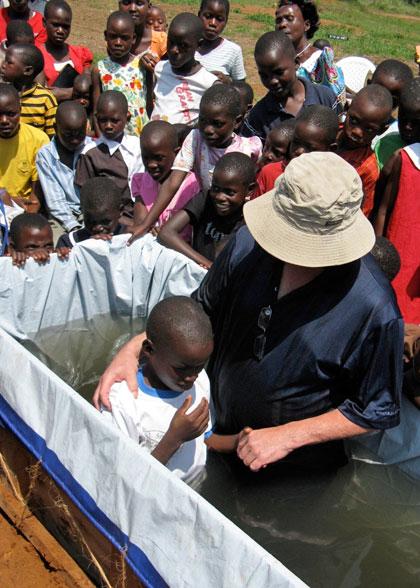 EWCV Boy Being Baptized