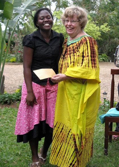 Staff Member, Mary, with Ja Ja Ann