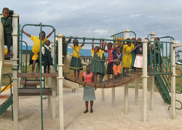 Nursery Children on Play Structure