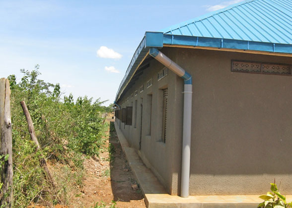 Rain Gutters on EWCV's Beth Pipe Nursery and Primary School