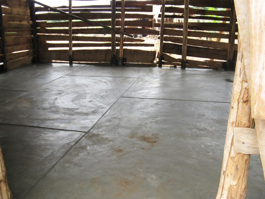 Temporary High School will have concrete floor.