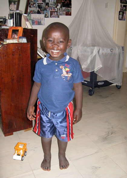 Two-year-old Elisha is EWCV's youngest child.