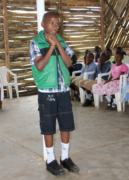 EWCV Boy Sharing His Testimony