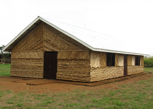 Bamboo Church Walls Completed