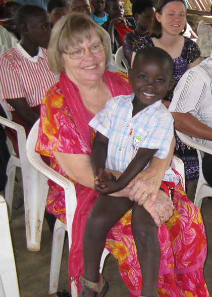 Ann and Elisha Enjoying Church Service