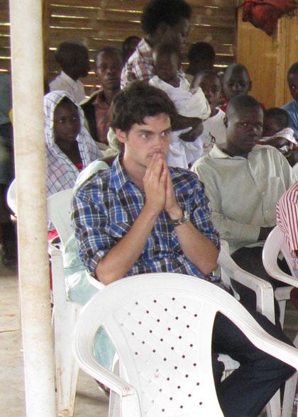 Volunteer Kurt Peterson at Church