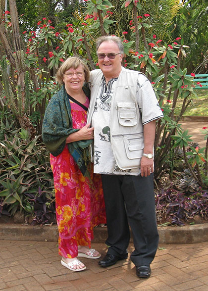 Ann and Bill in Nairobi