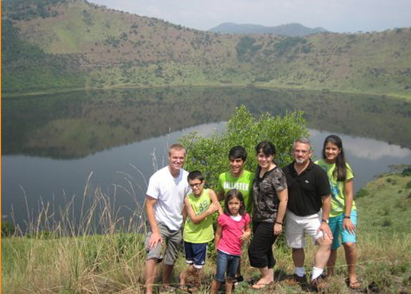 Jonathan (an EWCV Volunteer) and Dr. Macris's Family at National Park