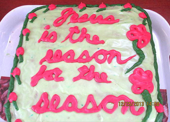 """Jesus Is the Reason for the Season"" Christmas Cake"