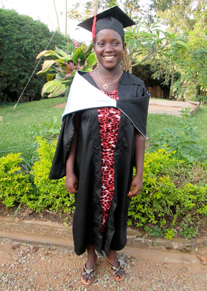 EWCV Student Graduating from Tailoring Course
