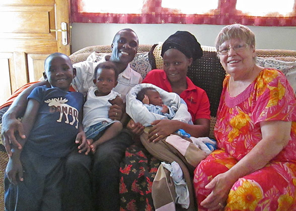 Ja Ja Ann with the Kisakye Family